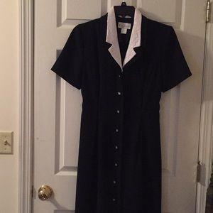 Miss Dorby size 12 long navy dress